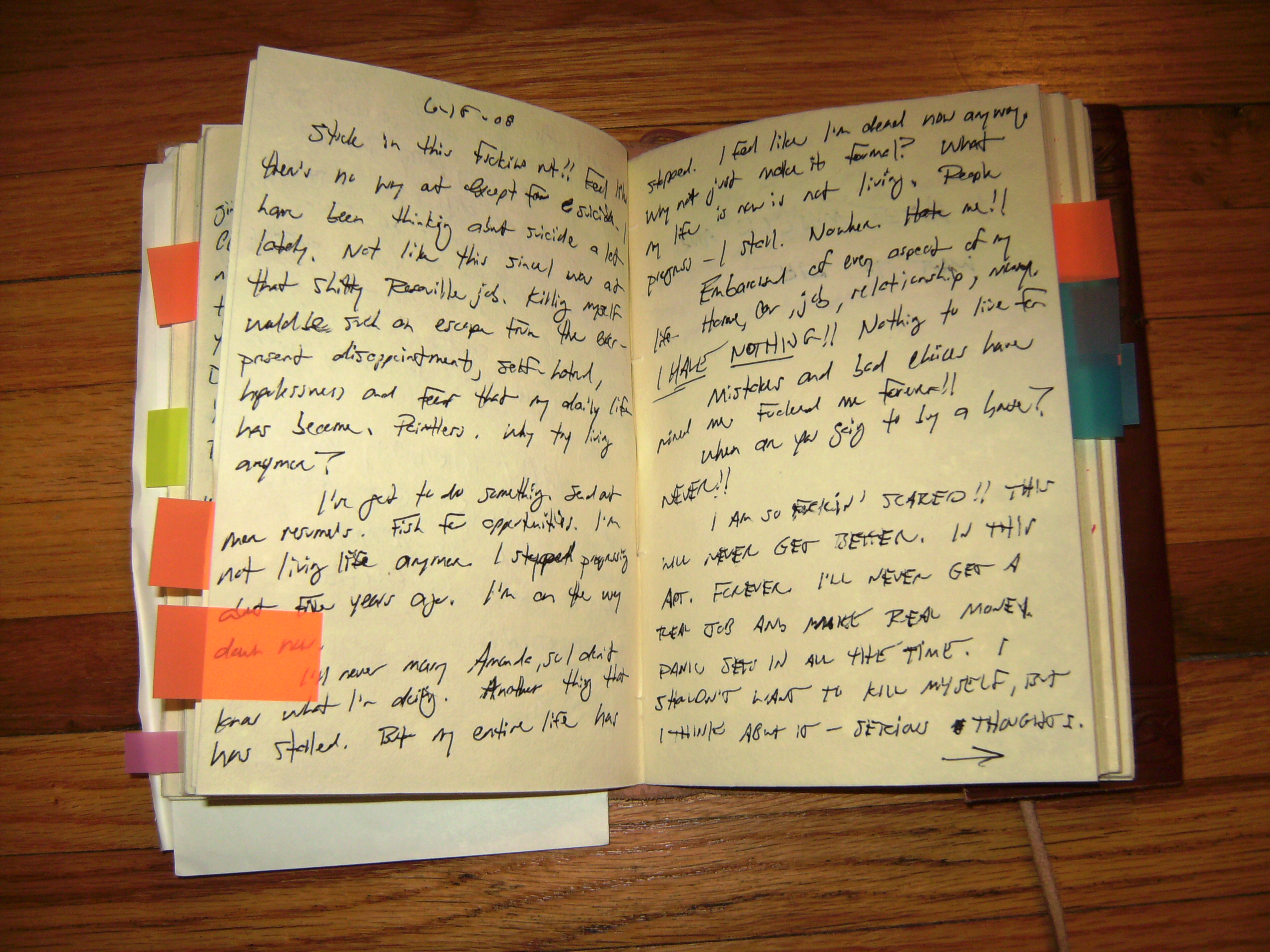 Journal writing for depression